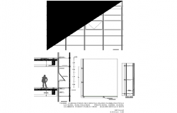Door plan detail dwg file