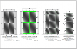 Door section detail dwg file
