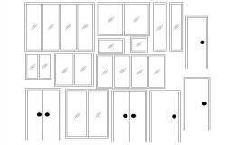 Door window CAD blocks free download