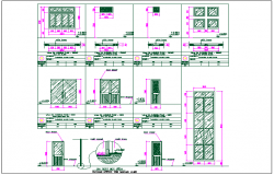 Door window detail dwg file