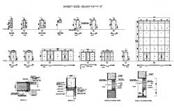 Doors, windows and ventilation elevation and installation details of hotel dwg file