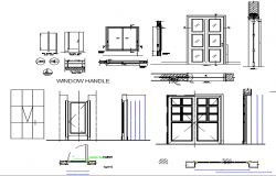 Doors and window installation details of corporate building dwg file