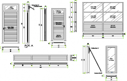 Doors & windows installation details of shopping center dwg file