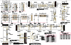 Doors and windows installation details of single family house dwg file