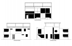 Dormitory plan elevations,dwg file