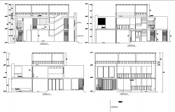 Dormitory plan sections,dwg file
