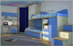 Double bedroom design view dwg file