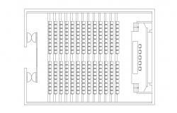 Download Auditorium Plan DWG CAD file