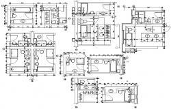 Download AutoCAD bathroom design drawing