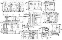 Download Bathroom Layout CAD 2d plan