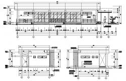 Download Building elevation AutoCAD drawing