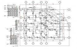Download Foundation Plan Footing Design AutoCAD Drawing