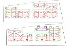 Download Free DWG File Of Apartment Line Plan