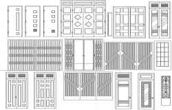 Download Free Door CAD Blocks