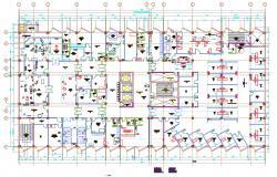Download Hospital Building Design Layout Floor Plan AutoCAD File