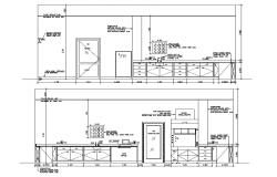 Download Kitchen Elevation AutoCAD Drawing