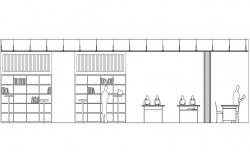 Download Library Plan DWG Drawing