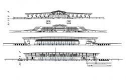 Download Modern Elevation Of Stadium AutoCAD File