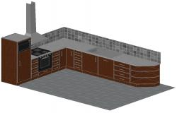 Download Modular Kitchen CAD Drawing