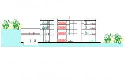 Download Multi-Story Residence Apartment Design Section 2d AutoCAD drawing