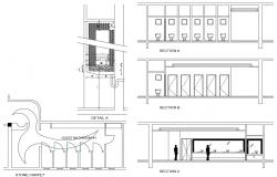 Download Public toilet Design CAD FIle