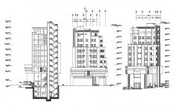 Download Shopping Complex Elevation and Section CAD File