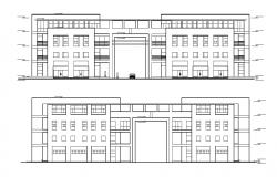 Download Shopping Mall Elevation Design DWG File
