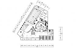 Download The Architecture Design Plan Of Club AutoCAD File Free