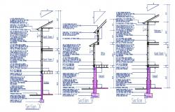 Download Wall Section Design AutoCAD File