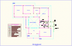 Drain pipe network view of office dwg file