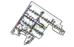 Drainage Master Plan AutoCAD File Free Download