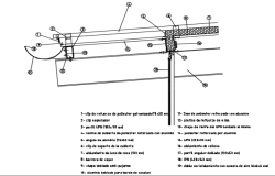 Drainage channel section detail dwg file