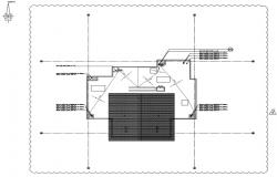 Drainage system detail in roof plan.