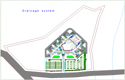 Drainage system for court design dwg file