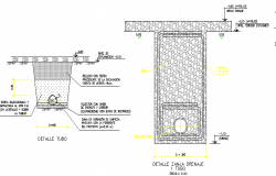 Drainage trench architecture project details dwg file