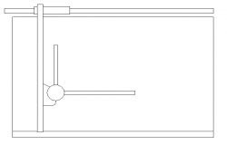Drawing board front view cad design dwg file