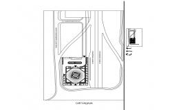 Drawing detail of Hotel building area dwg file