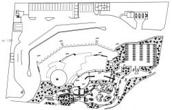 Drawing detail plan of area site layout dwg autocad fil