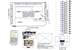 Drawing municipal housing plan layout file