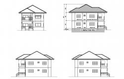 Drawing of 2 storey house in autocad