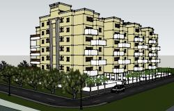 Drawing of Apartment 3D elevations in SketchUp file