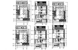 Drawing of Hotel 10mtr x 17.7mtr with section and elevation in dwg file