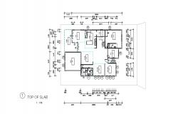 Drawing of House plan with detail dimension in skp file