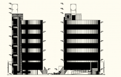 Drawing of Multi-storey building in AutoCAD