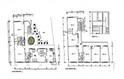 Drawing of Residential house 14.25mtr x 11.74mtr with elevation in autocad