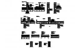 Drawing of Structure elements with a different section in dwg file