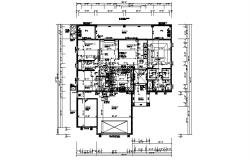 Drawing of a house with false ceiling layout in dwg file
