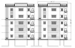 Drawing of an apartment in autocad file