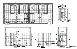 Drawing of bathroom design in autocad