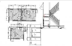 Drawing of bathroom design in dwg file